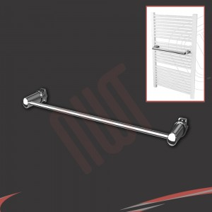 Chrome Straight Towel Bar 370mm