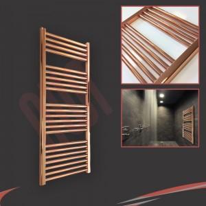 "400mm (w) x 1200mm (h) ""Straight Copper"" Designer Towel Rail"