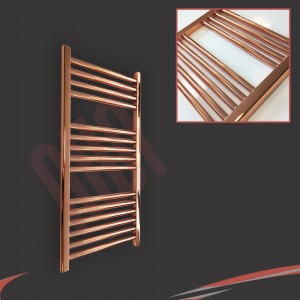 "400mm (w)  x 800mm (h) ""Straight Copper"" Designer Towel Rail"