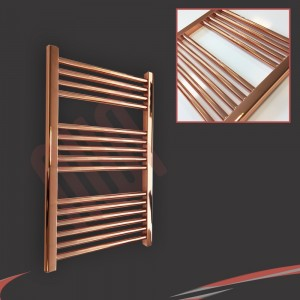 "600mm (w)  x 800mm (h) ""Straight Copper"" Designer Towel Rail"
