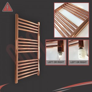 "400mm (w)  x 800mm (h) Electric ""Copper"" Towel Rail (Single Heat or Thermostatic Option)"