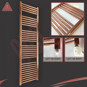 "400mm (w)  x 1600mm (h) Electric ""Copper"" Towel Rail (Single Heat or Thermostatic Option)"