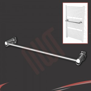 Chrome Straight Towel Bar 550mm