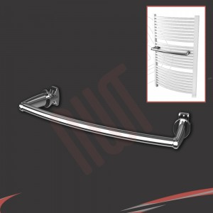 Chrome Curved Towel Bar 330mm