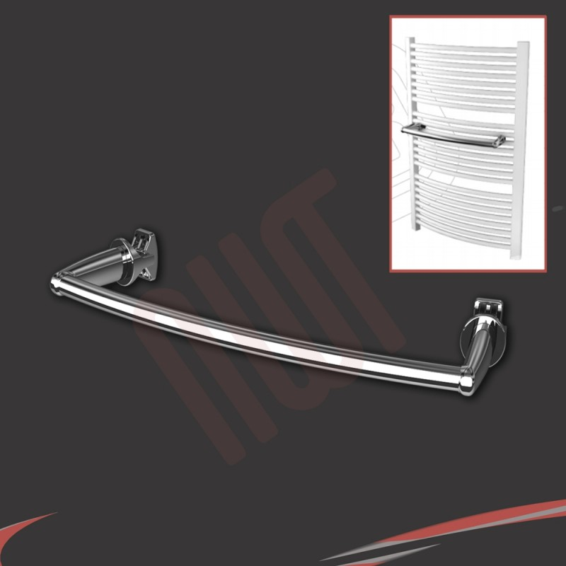 Chrome Curved Towel Bar 450mm