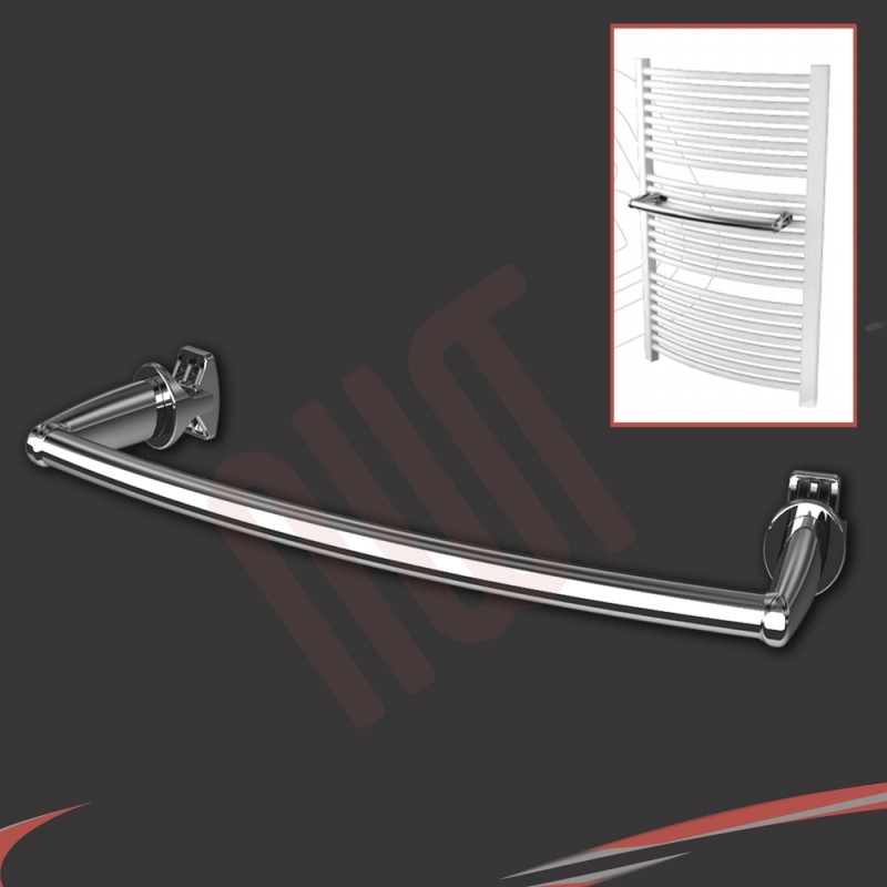 Chrome Curved Towel Bar 550mm