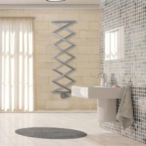 "Aeon ""Zig Zag E"" 500mm(w) x 1500mm(h) Designer Brushed Stainless Steel Towel Rail"