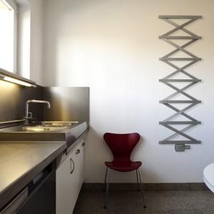 "Aeon ""Zig Zag T"" 500mm(w) x 1500mm(h) Designer Brushed Stainless Steel Towel Rail"