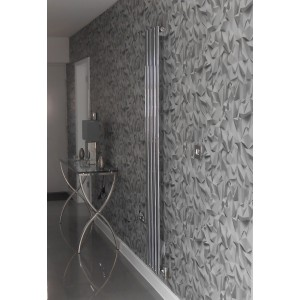 280mm (w) x 1800mm (h) Brecon Chrome Vertical Radiator