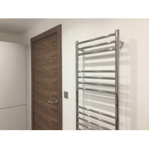 500mm (w) x 1600mm (h) Polished Stainless Steel Towel Rail