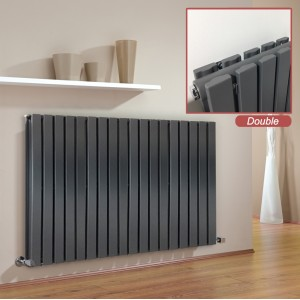 "Ultraheat ""Linear"" Anthracite Double Flat Panel Horizontal Radiators"