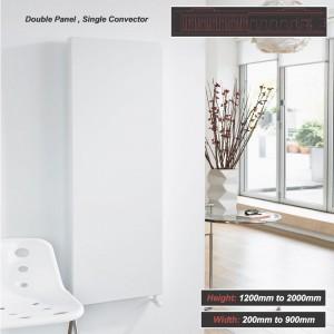 "Ultraheat ""Planal"" Flat Panel Vertical White Radiator (35 Sizes - Single Panel, Single Convector)"