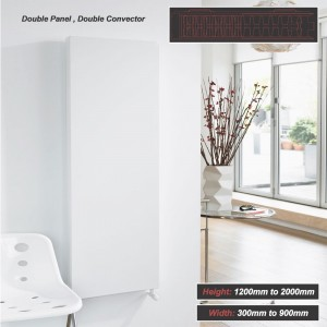 "Ultraheat ""Planal"" Flat Panel Vertical White Radiator (27 Sizes - Double Panel, Double Convector)"
