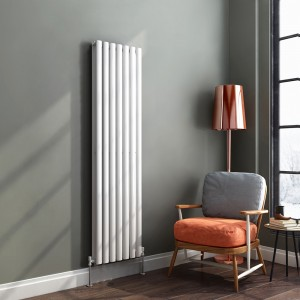"Ultraheat ""Sofi"" White Double Oval Tube Vertical Radiators (12 Sizes)"