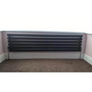 1850mm (w) x 440mm (h) Corwen Black Horizontal Radiator