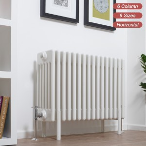 "Ultraheat ""Tubularo"" 6 Column White Horizontal Radiators (9 Sizes)"