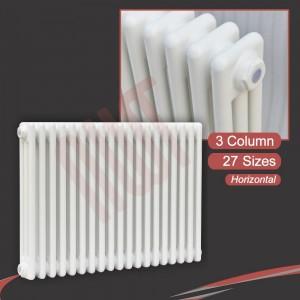 """Korona"" 3 Column White Horizontal Radiators (18 Sizes)"