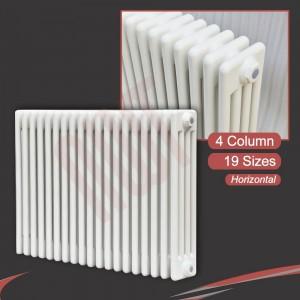 """Korona"" 4 Column White Horizontal Radiators (14 Sizes)"