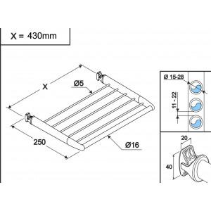Chrome Towel Holder 460mm