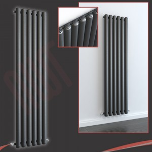 460mm (w) x 1800mm (h) Circolo Anthracite Vertical Radiator
