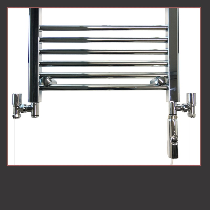 Thermostatic Electric Chrome Dual Fuel T-Piece Kits (100W to 600W Thermostatic Elements) Standard or Thermostatic Valves