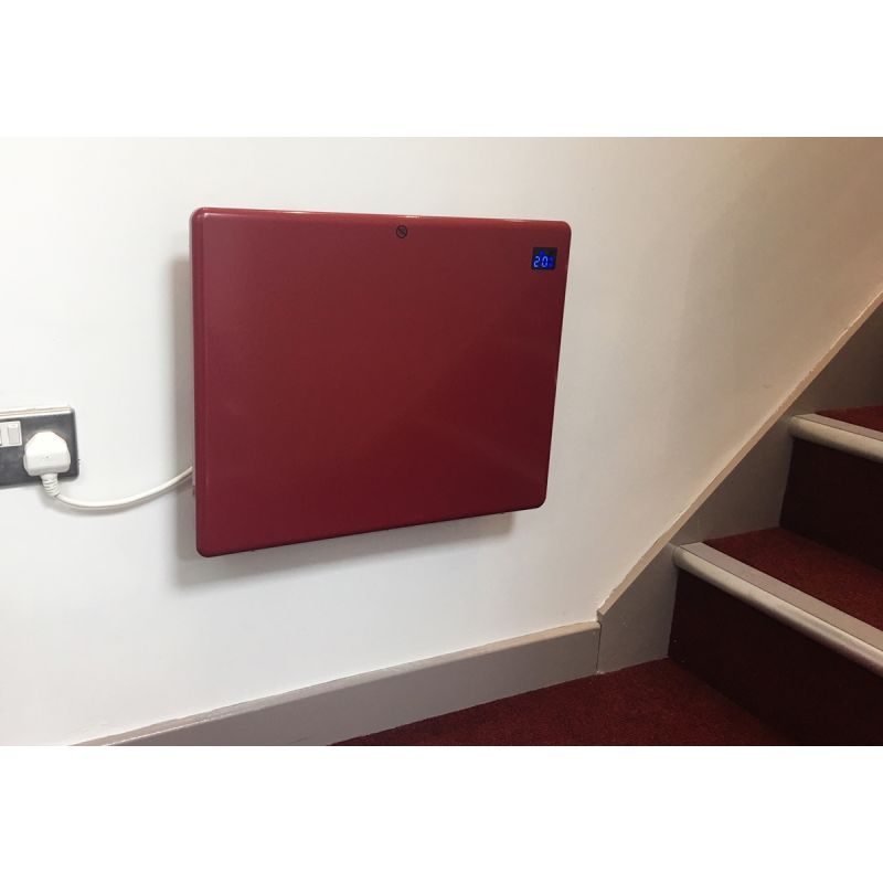 1000W Electric Panel Heater Red Nova