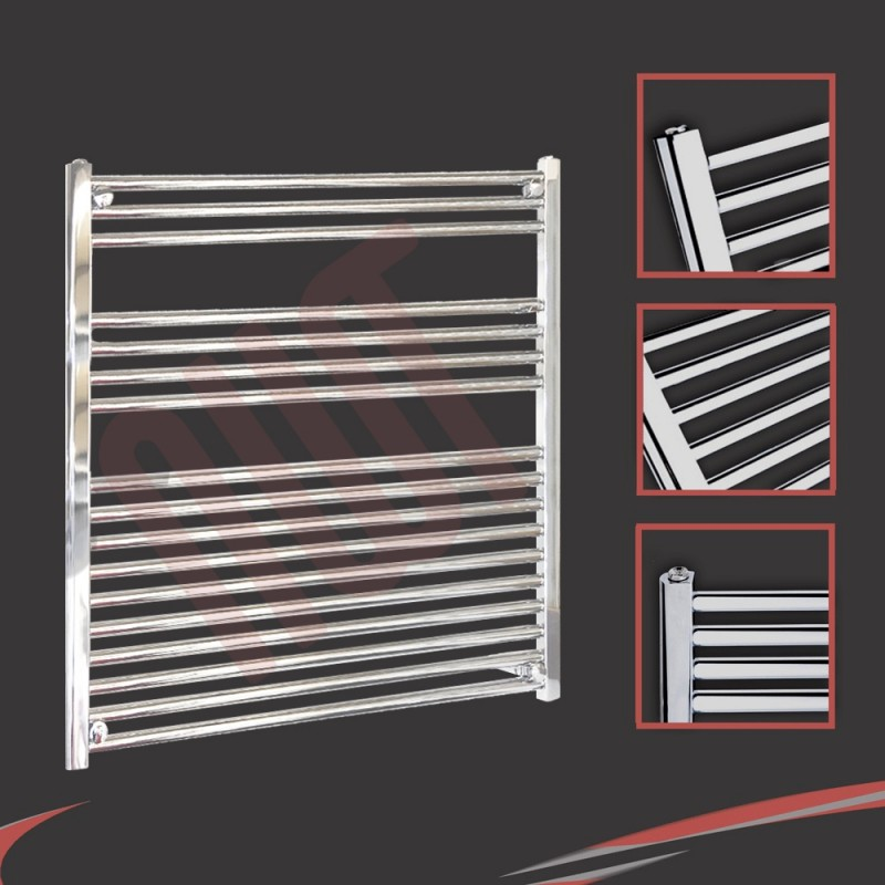 900mm x 900mm Straight Chrome Towel Rail