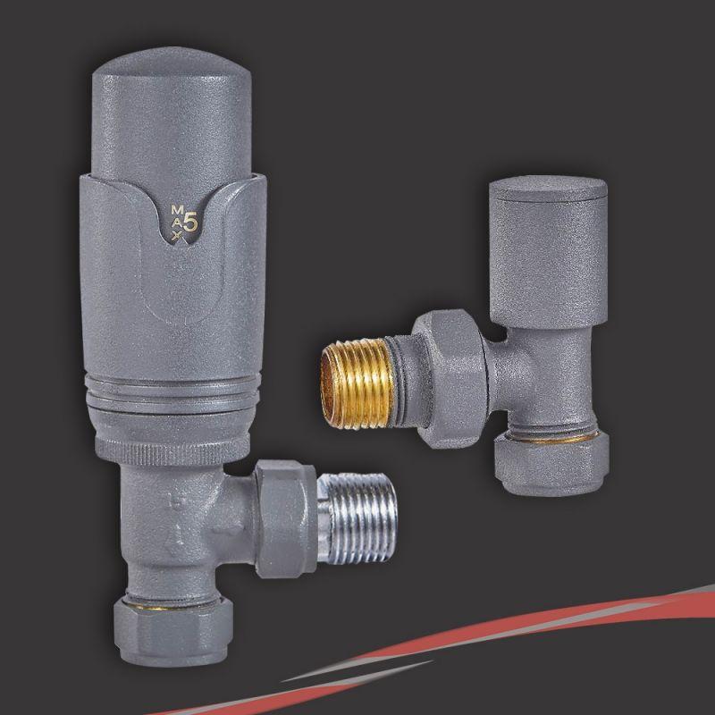 angled straight corner anthracite trv radiator valves. Black Bedroom Furniture Sets. Home Design Ideas