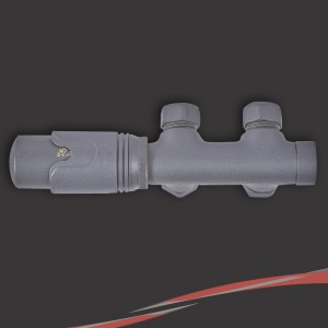 Euro Connection Anthracite Thermostatic Valves for Radiators & Towel Rails (Pair)