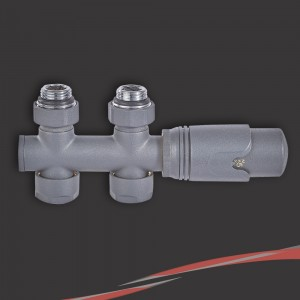 Straight Underside Euro Connection Anthracite Thermostatic Valves for Radiators & Towel Rails (Pair)