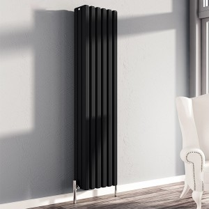 "Carisa ""Karo"" Black Aluminium Column Designer Radiators (3 Sizes)"