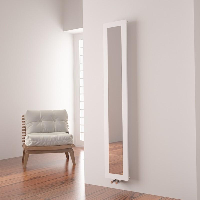 """Carisa """"Quadro"""" White Aluminium Designer Mirror Radiators (2 Sizes)"""
