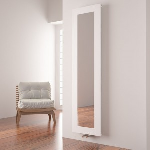 "Carisa ""Quadro"" White Aluminium Designer Mirror Radiators (2 Sizes)"
