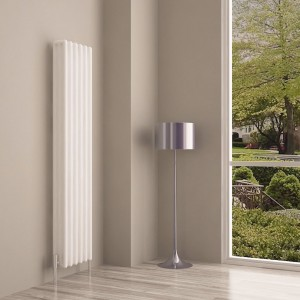 "Carisa ""Tubo"" White Aluminium Column Designer Radiators (3 Sizes)"