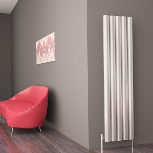 "Carisa ""Otto"" Polished Anodized Aluminium Designer Vertical Radiators (3 Sizes)"