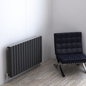 "Carisa ""Vesta"" Metallic Grey Aluminium Designer Horizontal Radiators (3 Sizes)"