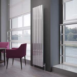 "Carisa ""Vesta"" Polished Anodised Aluminium Designer Radiators (6 Sizes)"