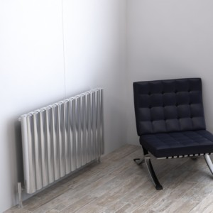 "Carisa ""Vesta"" Polished Anodised Aluminium Designer Horizontal Radiators (3 Sizes)"