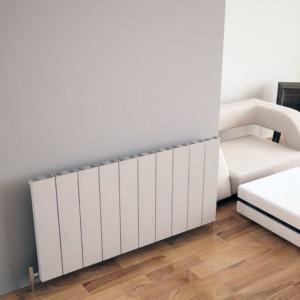 "Carisa ""Elvino"" White Aluminium Flat Panel Horizontal Designer Radiators (3 Sizes)"