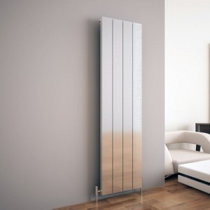 "Carisa ""Elvino"" Polished Anodised Aluminium Flat Panel Vertical Designer Radiators (2 Sizes)"