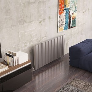 "Carisa ""Wave"" Polished Anodised Aluminium Designer Radiators (5 Sizes)"