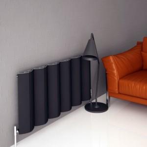 """Carisa """"Nixie"""" Black Aluminium Designer Radiators (5 Sizes)"""