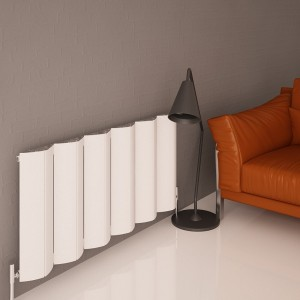 "Carisa ""Nixie"" White Aluminium Designer Radiators (5 Sizes)"