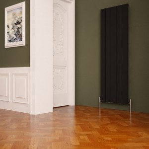 "Carisa ""Nemo"" Black Aluminium Flat Panel Designer Radiators (8 Sizes)"