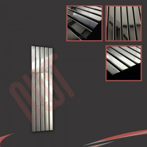 "360mm (w) x 1250mm (h) ""Corwen"" Chrome Flat Panel Vertical Radiator (5 Sections)"
