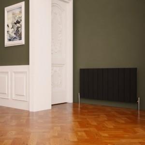 "Carisa ""Nemo"" Black Aluminium Flat Panel Horizontal Designer Radiators (5 Sizes)"