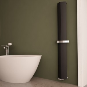 "Carisa ""Nixie Bath"" Black Aluminium Designer Radiators (3 Sizes)"