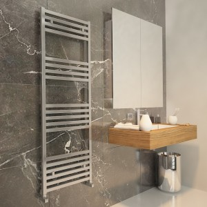 "Carisa ""Fame"" Polished Anodised Aluminium Designer Towel Rails (4 Sizes)"