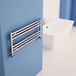 "1000mm (w) x 400mm (h) Carisa ""Fame Horizontal"" Polished Anodised Aluminum Designer Towel Rail"