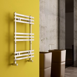 "Carisa ""Baron"" Polished Anodised Aluminium Designer Towel Rails (2 Sizes)"